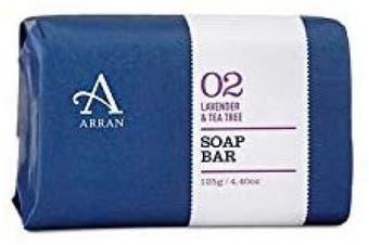 (Apothecary Lavender and Tea Tree (125 g)) - Arran Sense of Scotland APY011 Selle d'emballage de Papier Savon, 125 g