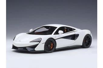 McLaren 570S White with Black Wheels 1/18 Model Car by Autoart 76041