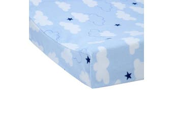 (Take Flight) - Carter's Take Flight Aeroplane/Cloud/Star Super Soft Changing Pad Cover, Blue, Navy, White,