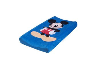(Blue, Red, Black) - Dinsey Mickey Changing Pad Cover, Blue, Red, Black