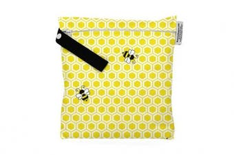 (Small, Honeybuns) - Buttons Cloth Nappies Waterproof Washable Reusable Zippered Laundry Wet Bag (Small, Honeybuns)