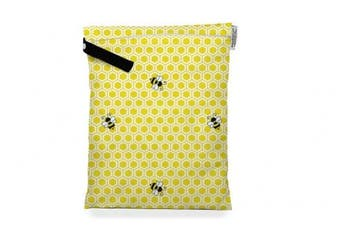 (Medium, Honeybuns) - Buttons Cloth Nappies Waterproof Washable Reusable Zippered Laundry Wet Bag (Medium, Honeybuns)