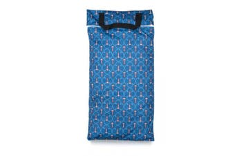 (Large, Anchored) - Buttons Cloth Nappies Waterproof Washable Reusable Zippered Laundry Wet Bag (Large, Anchored)