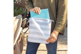 (1, Gray Mat) - Ubbi On The Go Changing Mat and Bag Set, Robins Egg Blue