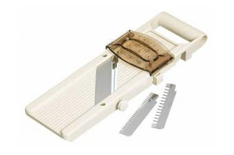 Kitchen Craft Professional Japanese Mandoline with Three Blades and Safety Guard