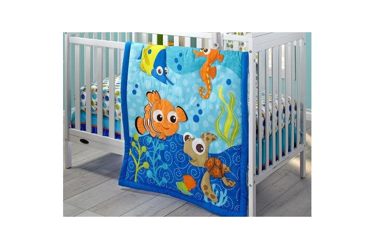 (Nemo) - Disney Nemo 3 Piece Crib Bedding Set