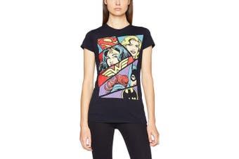(14 (Manufacturer Size:X-Large), Black (Black)) - CID Women's Dc Originals-Heroine Pop Art T-Shirt