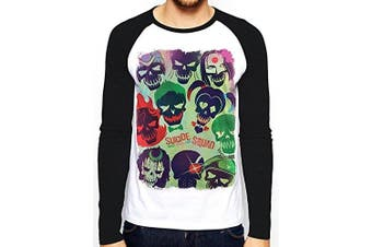 (FR : S (Taille Fabricant : S), multicolored) - C.I.D. Men's Suicide Squad-Poster T-Shirt