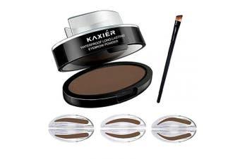(Eyebrow Stamp Dark Brown) - CCbeauty Eyebrow Powder Stamper Seal Kit Eyebrow Makeup Eyebrow Tinting Colouring Kit,Dark Brown