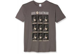 (Small, Grey (Grey)) - CID Men's Dc Originals-Moods of Batman T-Shirt