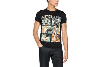 (Medium, Black) - CID Men's Justice League Comics-Pop Art T-Shirt