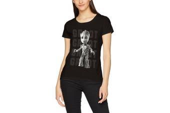 (14 (Manufacturer Size:EX LARGE), Black (Black Black)) - CID Women's T-Shirt