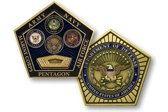 Pentagon Department of Defence Challenge Coin