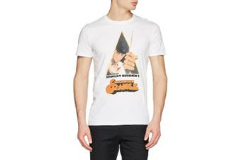 (X-Large, White) - CID Men's Clockwork Orange-Knife T-Shirt