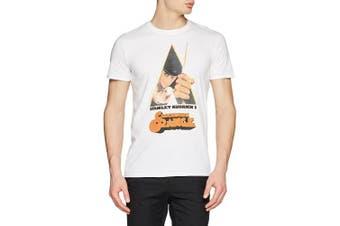 (Large, White) - CID Men's Clockwork Orange-Knife T-Shirt