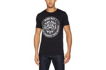 (Large, Black) - CID Men's Miss May I-Lion Crest T-Shirt
