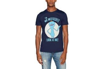 (X-Large (Manufacturer Size:EX LARGE), Blue (Navy)) - CID Men's Rick & Morty-Mr Meseeks T-Shirt