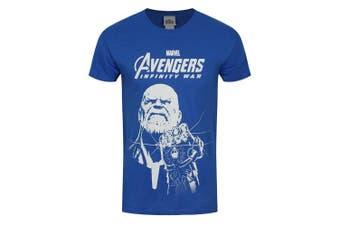 (Large (Manufacturer Size:LARGE), Blue (Blue Blue)) - CID Men's The Avengers Infinity War-Blue Thanos T-Shirt