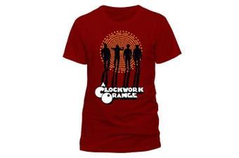 (Small (Manufacturer Size:SMALL), Red (Red Red)) - CID Men's Clockwork Orange-Gang T-Shirt