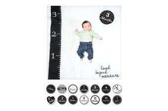 (Loved Beyond Measure) - lulujo Baby Baby's First Year Milestone Blanket and Cards Set, Loved Beyond Measure