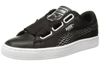 (8 UK, Puma Black-puma White) - Puma Women's Basket Heart Oceanaire Wn Sneaker