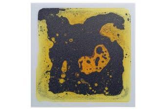 (1 Tile (30cm  x 30cm ), A08) - Art3d Liquid Dance Floor Colourful Home Decor Tile, 30cm x 30cm Yellow-Black