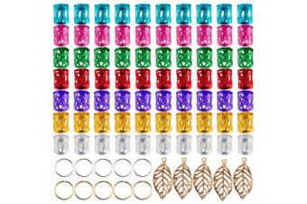 CCMART 150 Pieces Dreadlocks Metal Hair Cuffs Hair Braiding Beads Aluminium Hair Braid Rings for Hair Accessory, Assorted Colours