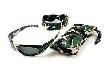 (Grey, Green Camo) - Jbanz children's sunglasses 4-10 years: Green Camo
