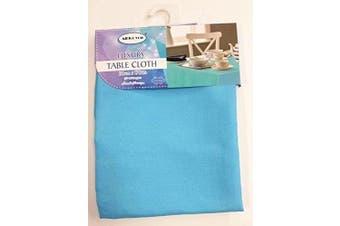 (130cm  x 180cm , Blue) - ALL FOR YOU Rectangular Fabric Table Cloth,Rectangle Washable Dinner Picnic Table Cloth,Assorted Colours- 2 SIZES (130cm X 180cm ) or (150cm X 230cm ) (blue, 130cm x 180cm )