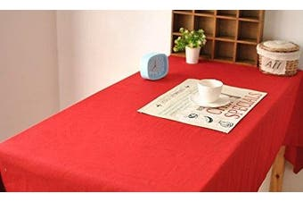 (130cm  x 180cm , Red) - ALL FOR YOU Rectangular Fabric Table Cloth,Rectangle Washable Dinner Picnic Table Cloth,Assorted Colours- 2 SIZES (130cm X 180cm ) or (150cm X 230cm ) (red, 130cm x 180cm )