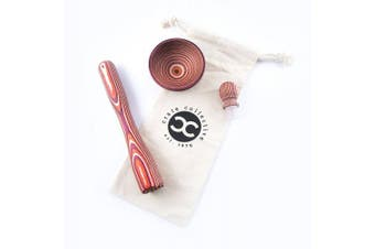 Exotic Pakkawood Mix Drink Set - Includes Muddler, Pinch Bowl, and Wine Stopper (Sunrise) - by Crate Collective