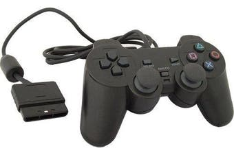 Wired PS2 controller GP01 Dual Shock Gamepad for Playstation 2 (Black)