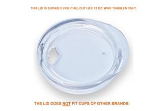 (350ml) - Replacement Lid for 350ml CHILLOUT LIFE Wine Tumbler ONLY