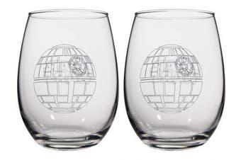 (Death Star) - Star Wars Collectible Wine Glass Set (Death Star)