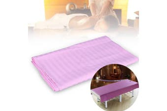 (120*200, Pink) - Soft Cotton Stripe Beauty Salon Sheet SPA Treatment Bed Cover With Face Breath Hole(120200-Pink)