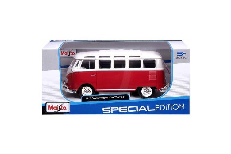 Maisto VW Van Samba, Red/White (31956 W/R)