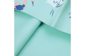 (BIRD GREEN) - BALNEAIRE Silicone Swim Cap for Women, Waterproof Long Hair Swimming Caps