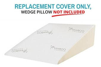 (80cm W x 80cm L x 30cm H) - Relax Home Life - Foam Bed Wedge Bamboo Pillow REPLACEMENT COVER ONLY - Designed To Fit Only Relax Home Life Wedge Pillows (80cm W x 80cm L x 30cm H)