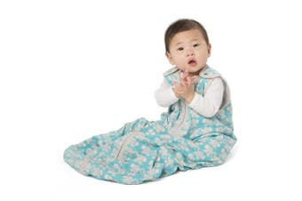 (Small (0-6 Months), Teal Elephant) - baby deedee Sleep Nest Lite Baby Sleeping Bag, Teal Elephant, Small (0-6 Months)