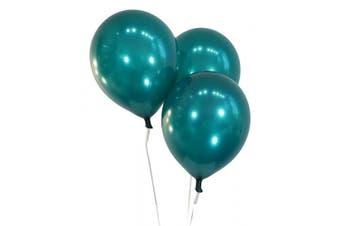(100 ct, Metallic Teal) - Creative Balloons 30cm Latex Balloons - Pack of 100 Pieces - Metallic Teal