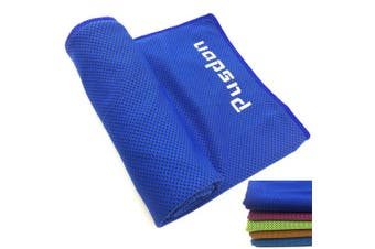 (Royal Blue) - Soft Cooling Towel for Instant Relief, 120cm Extra Long Natural Cool Cloth Scarf, Cold Neck Wrap Chilly Towels for Sports, Workout, Fitness, Gym, Yoga, Pilates, Travel, Camping Outdoor Running & More