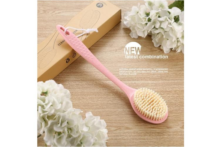 Pink Body Brush Homtoyou Body Wash Scrub Brush With Handle Of