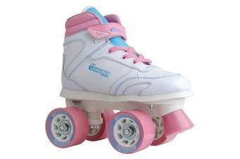 (Girls Size J13, Multi White) - Chicago Girls Sidewalk Skates - Size J13