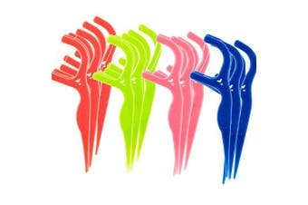 450 Disposable Floss Picks: The World's Most Convenient Floss Picks, Individually Wrapped In 4 Different Colours