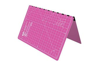 (A3 | Pink) - ANSIO A3 Foldable Self Healing Cutting Mat Imperial 43cm x 28cm - Pink