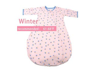 (2-3Year, Pink Mushroom(winter)) - GEX Baby Sleep Sack 100% Cotton Wearable Blanket Baby Sleeping Bag Winter Pink Mushroom 100 (3mos-6.5year)