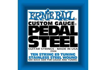 (Stainless Steel, E9 Tuning) - Ernie Ball Pedal Steel Stainless Steel Wound 10-String Set, E9 Tuning
