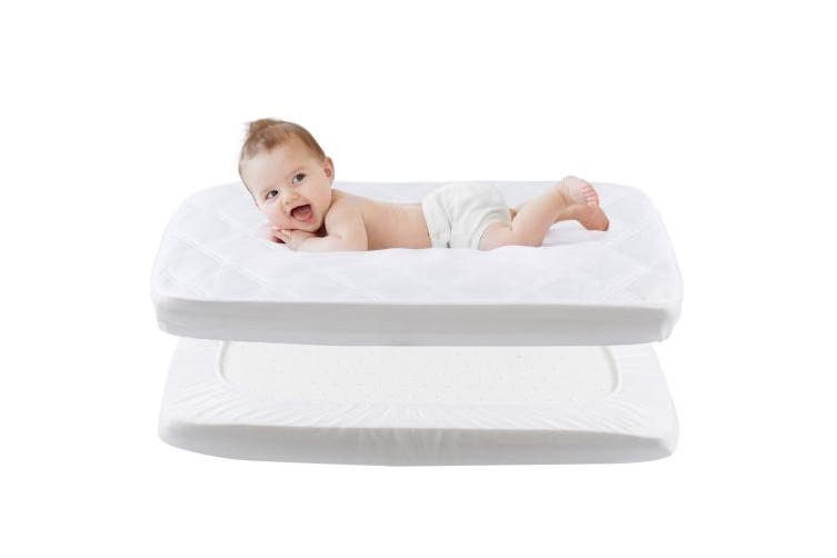 (50*90cm) - Waterproof Mattress Cover - Fitted Crib Mattress Protector - Hypoallergenic Baby Bed Sheet 50 X 90cm by YOOFOSS