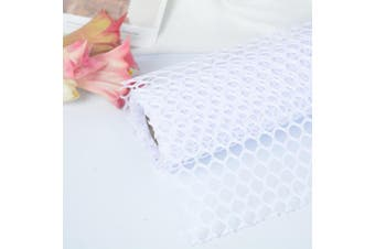 (White) - BBC Circle Net Flower Packaging Material Flower Shop Packging Material 60cm x 5 Yard (White)