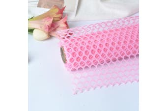 (Pink) - BBC Circle Net Flower Packaging Material Flower Shop Packging Material 60cm x 5 Yard (Pink)
